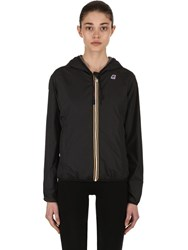 K Way Lily Hooded Jersey Jacket Black