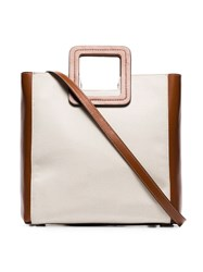 Staud Shirley Two Tone Tote Brown