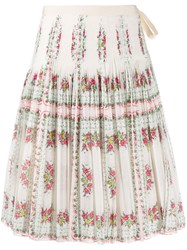 Tory Burch Floral Pleated Skirt 60