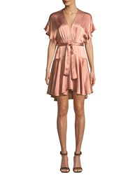 Saylor Daria Satin Dolman Mini Dress Blush