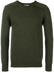 Oliver Spencer 'Blade' Crew Neck Jumper Green