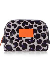 Marc By Marc Jacobs Printed Coated Canvas Pouch Leopard Print
