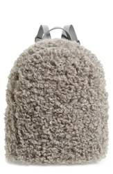 Bp. Curly Faux Shearling Backpack Grey