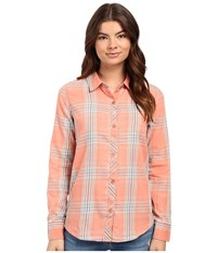 O'neill Birdie Button Down Shirt Coral Women's Long Sleeve Button Up