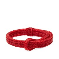 Chamula Braided Horsehair Bracelet Red