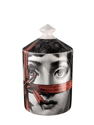 Fornasetti Regalo Flora Scented Candle With Lid Black Red White