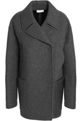 Dkny Double Breasted Wool Blend Coat Anthracite