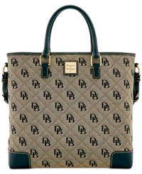 Dooney And Bourke Signature Quilted Chelsea Shopper Black