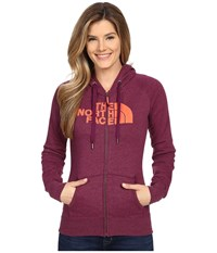 The North Face Avalon Full Zip Hoodie Pamplona Purple Heather Radiant Orange Women's Sweatshirt Pink