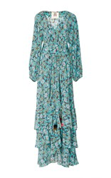Figue Frederica Silk Maxi Dress Floral