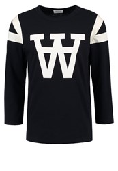 Wood Wood William Long Sleeved Top Navy Dark Blue