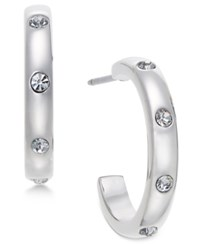 Kate Spade New York Infinity And Beyond Silver Tone Small Hoop Earrings