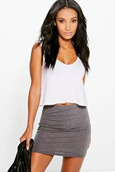 Boohoo Basic Bodycon Mini Skirt Charcoal