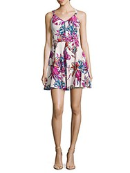Amanda Uprichard Floral Silk Dress Multi
