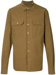 Rick Owens Front Button Shirt Green