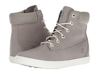 Timberland Flannery 6 Boot Medium Grey Full Grain Women's Lace Up Boots Gray