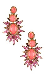 Elizabeth Cole Carmella Earrings In Pink.