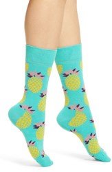 Happy Socks Pineapple Crew Blue