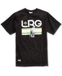 Lrg Men's Astro Lion Graphic Print Cotton T Shirt Black