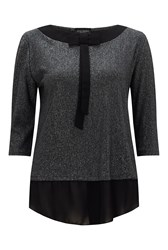 James Lakeland Metallic Bow Top Black