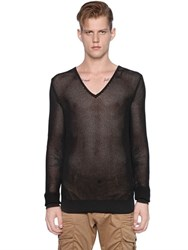 Dsquared V Neck Cotton Loose Knit Sweater