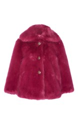 Manoush Jewel Faux Fur Coat Purple