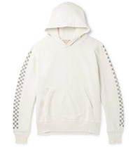 Remi Relief Printed Loopback Cotton Jersey Hoodie White