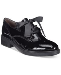 White Mountain Pearson Tailored Lace Up Oxfords Women's Shoes Black