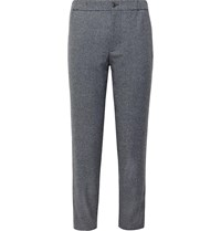 Club Monaco Lex Tapered Donegal Tweed Trousers Gray