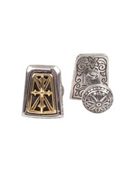 Konstantino Stavros Rectangle Cuff Links Silver