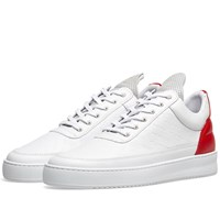 Filling Pieces Logo Embossed Low Top Sneaker White