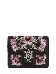 Alexander Mcqueen Insignia Mini Silk Satin Chain Clutch