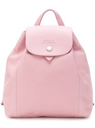 Longchamp Snap Fastening Backpack Pink And Purple