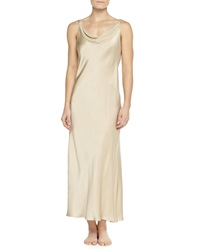 Donna Karan Glamour Washed Silk Long Gown Champagne
