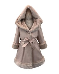 Helena Hooded Faux Fur Lined Reversible Coat Size 2 6 Pink