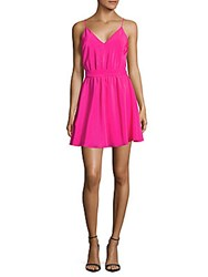 Amanda Uprichard Solid Silk Dress Pink