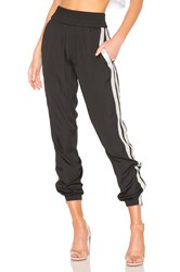 Kendall Kylie Jogger Pant Black And White