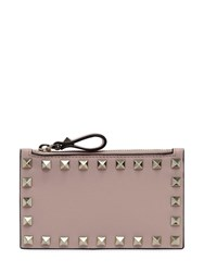 Valentino Garavani Rockstud Leather Zip Powder Pink