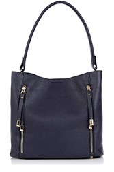 Oasis Hettie 2 Zip Hobo Bag Navy