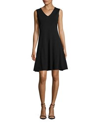T Tahari Skylar Sleeveless Fit And Flare Dress Black