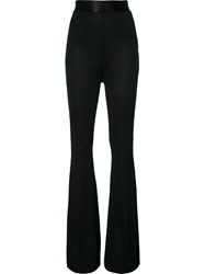 Ellery Ribbed Flared Trousers Black