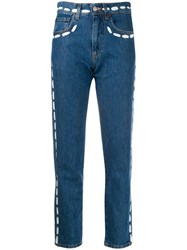 Moschino Paint Stroke Jeans Blue