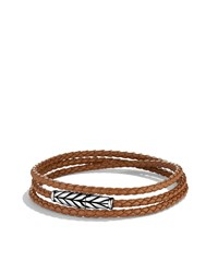 Chevron Triple Wrap Bracelet In Camel David Yurman