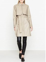 Karl Lagerfeld Ikonik Belted Trench Coat Grey