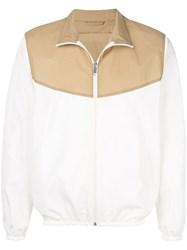Cerruti 1881 Colour Block Bomber Jacket White