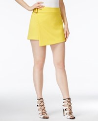 Xoxo Juniors' Asymmetrical Hem Skort Lemon
