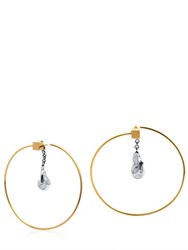 Caterina Zangrando Zira Hoop Earrings With Drop