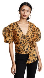 C Meo Collective Love Hate Top Marigold Floral