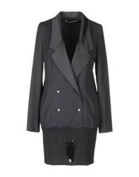 Frankie Morello Full Length Jackets Black