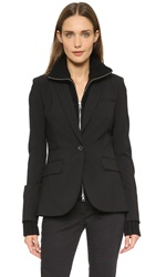 Veronica Beard Classic Jacket With Upstate Dickey Black Black